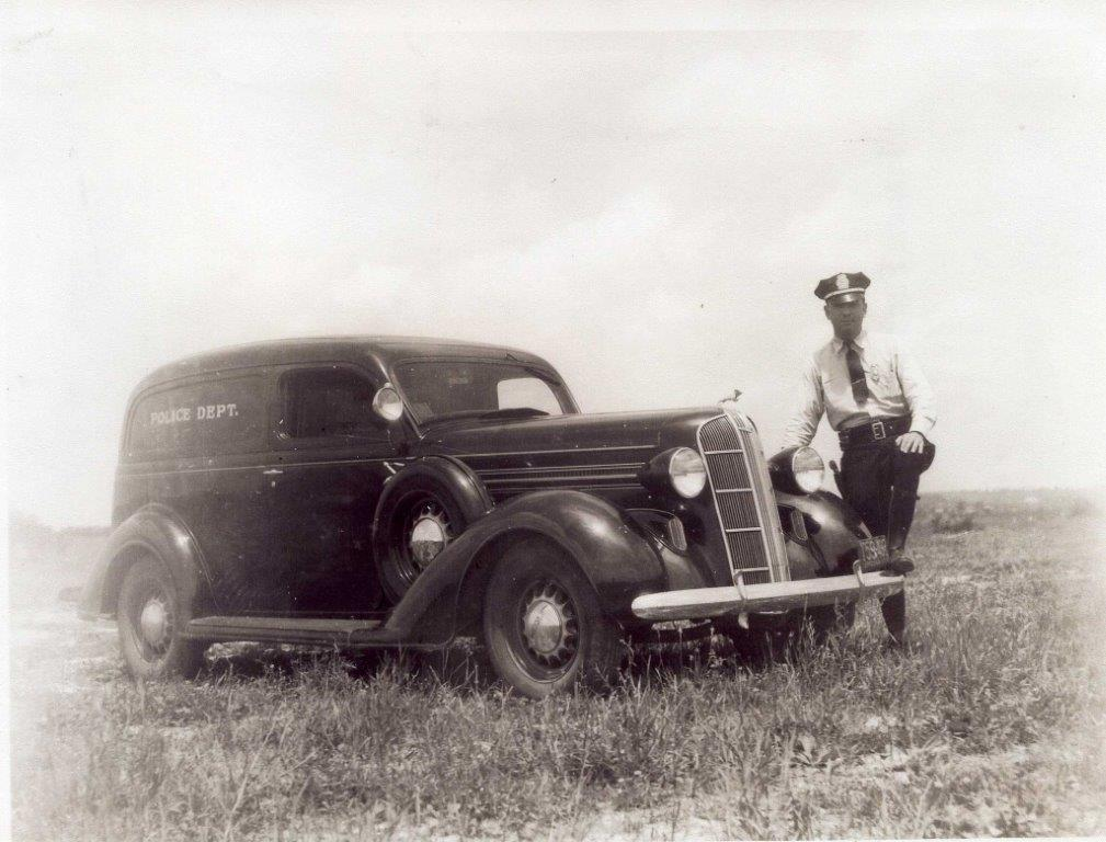 Old Cruiser with Police Officer